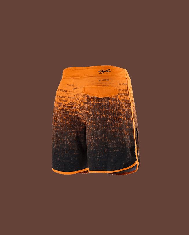 Boardshorts BE STRONG ETRE-FORT Parkour Clothing orange back