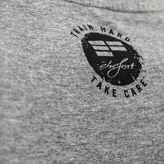 t-shirt EF grey parkour clothing detail back