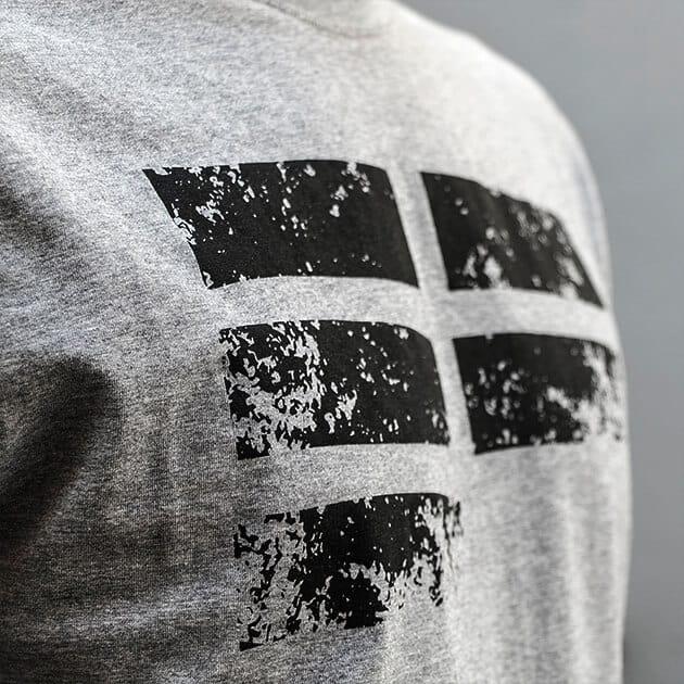 t-shirt EF grey parkour clothing detail front