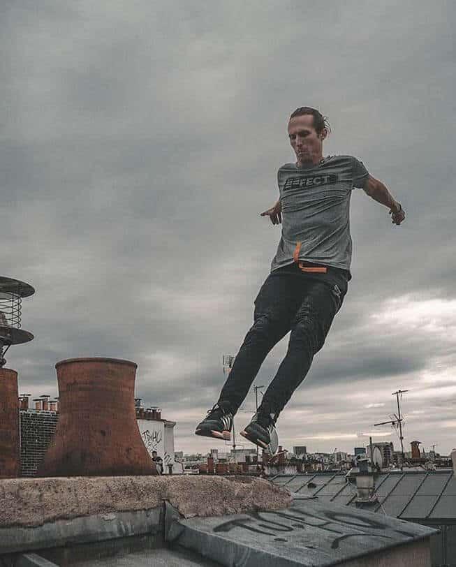 slim fit etrefort black orange paris rooftop