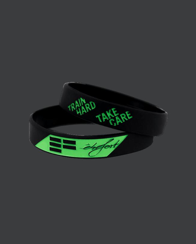 wristband-transparent_trainhardtakecare_green