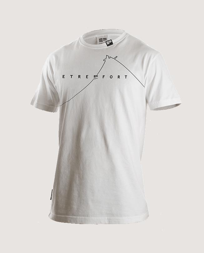 T-Shirt dame du lac white front   ETRE-FORT Parkour Clothing