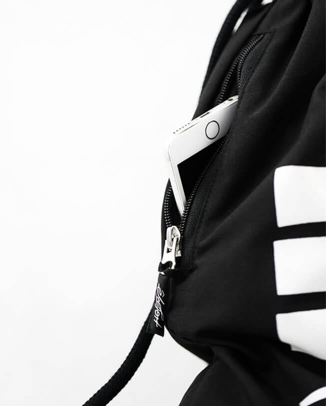 parkour-gym-sack-detail-black etrefort clothing lifestyle parkour