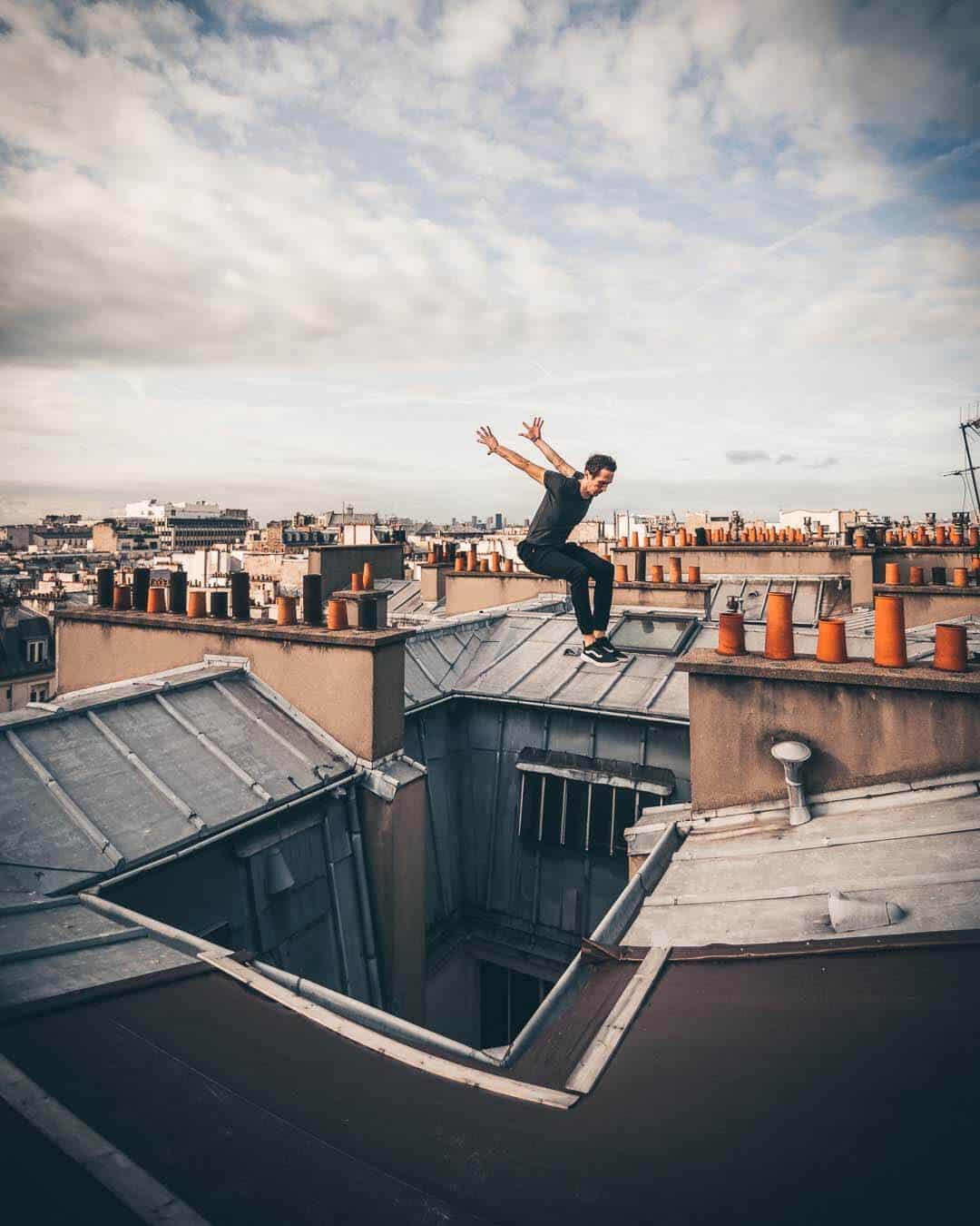 etrefort thibaut parkour clothing outdor paris rooftop pov flying