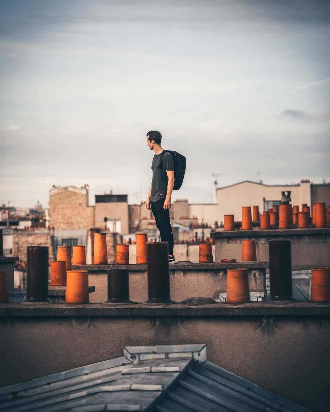 etrefort thibaut parkour clothing outdor paris rooftop pov looking