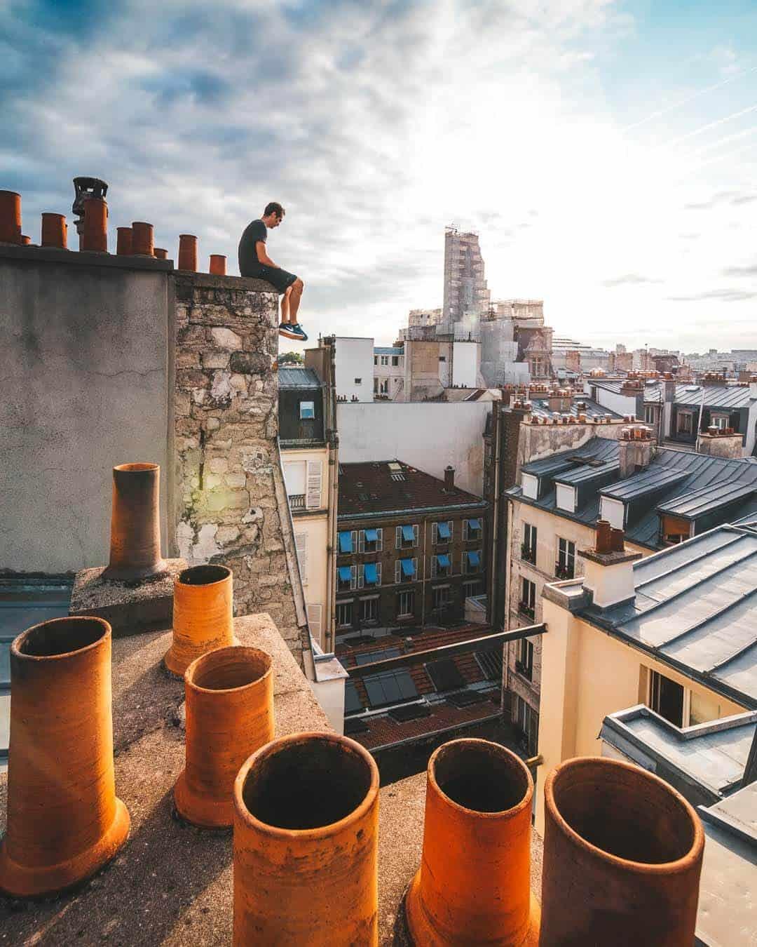 etrefort thibaut parkour clothing outdor paris rooftop pov sitting