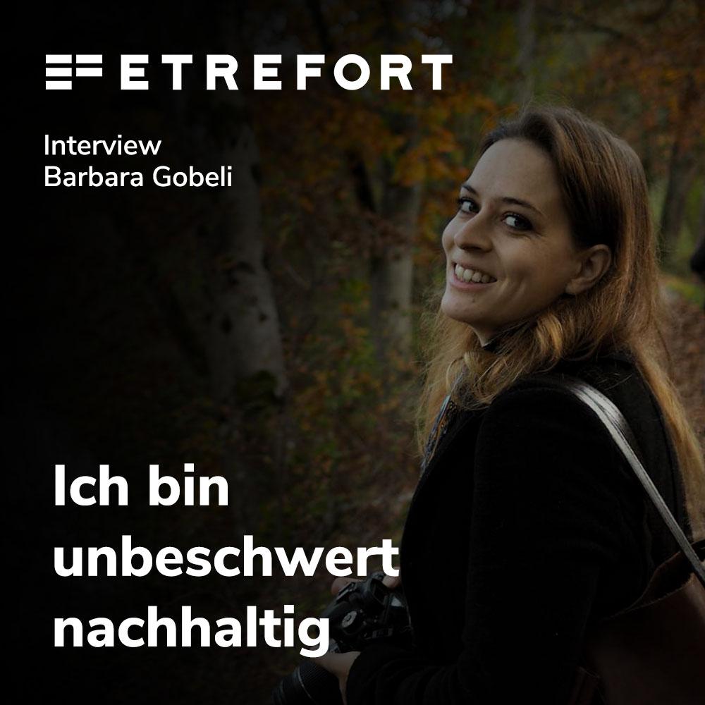 Barbara Gobeli - Unbeschwert nachhaltig bei ETREFORT